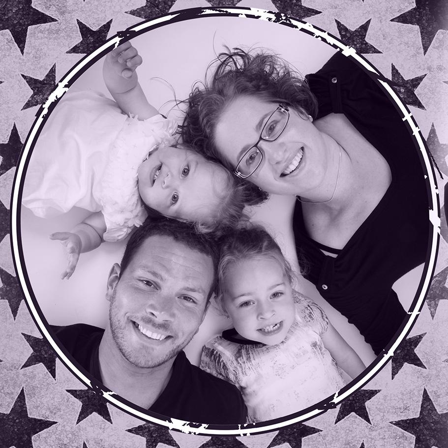 famille noir et blanc